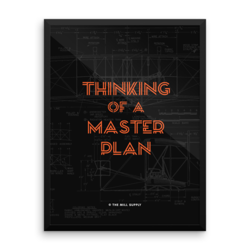 Thinking of a Master Plan Poster